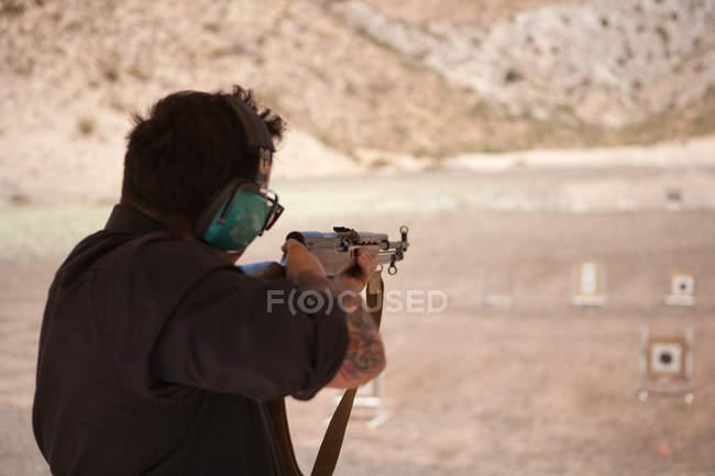 Meu rifle de tiro no alvo — Fotografia de Stock