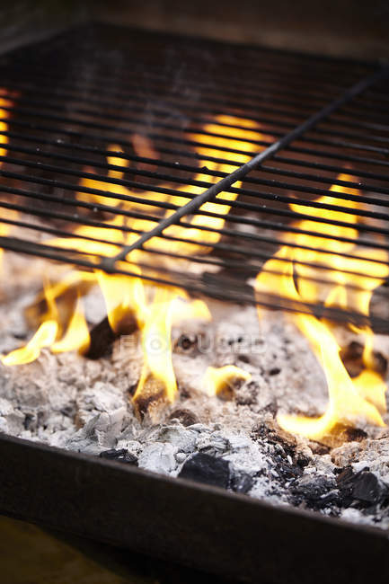 Close up of Barbecue grill, focus on foreground — Stock Photo