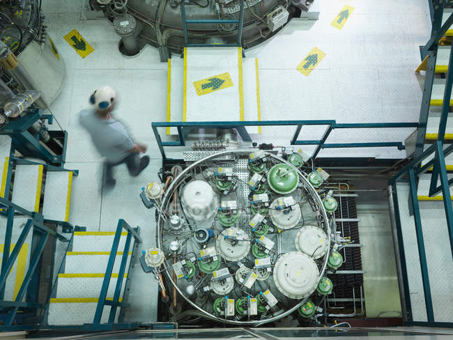 Fusion Reactor Scientist At Work — Stock Photo