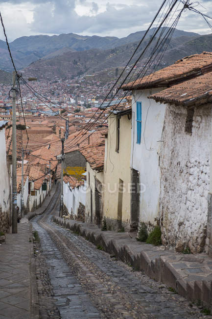 Strada ripida in Cusco, Perù, Sud America — Foto stock