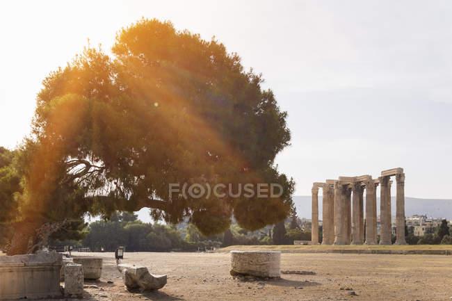 Руїни Олімпейон, Афіни, Аттиці, Греція, Європа — стокове фото
