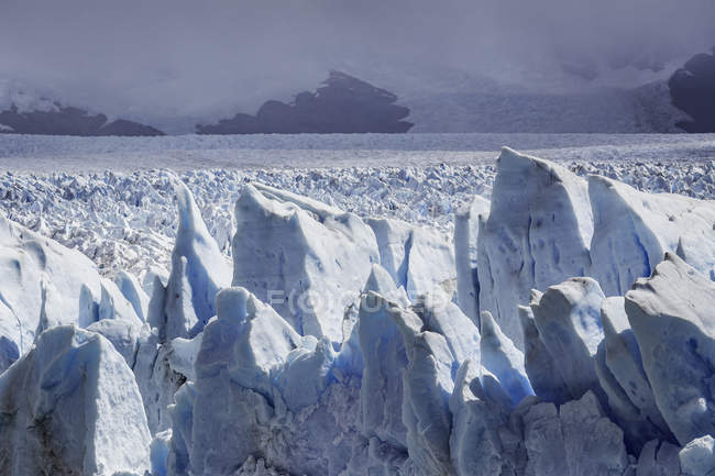 Storm clouds over Perito Moreno Glacier, Los Glaciares National Park, Patagonia, Chile — Stock Photo