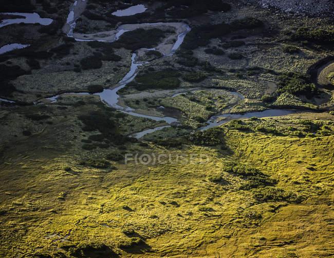 Vista de alto ângulo do vale de Rucaco, no Parque Nacional Nahuel Huapi, Rio Negro, Argentina — Fotografia de Stock