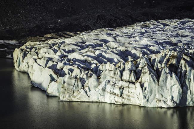 Detalhe da Torre glaciar e laguna no Parque Nacional Los Glaciares, Patagónia, Argentina — Fotografia de Stock