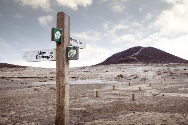 Signo direcional, Santa Cruz de Tenerife, Ilhas Canárias, Espanha, Europa — Fotografia de Stock