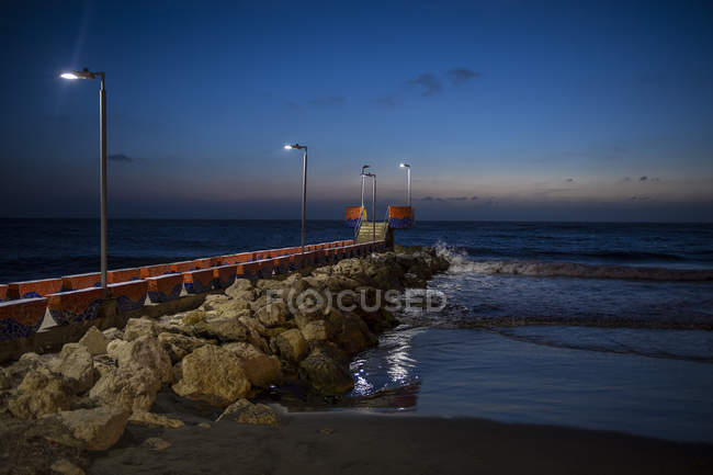 Pier in Cartagena, Bolivar, Colombia, South America — Stock Photo