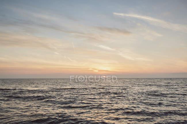Sea at sunset, Odessa, Odessa Oblast, Ukraine, Europe — Stock Photo