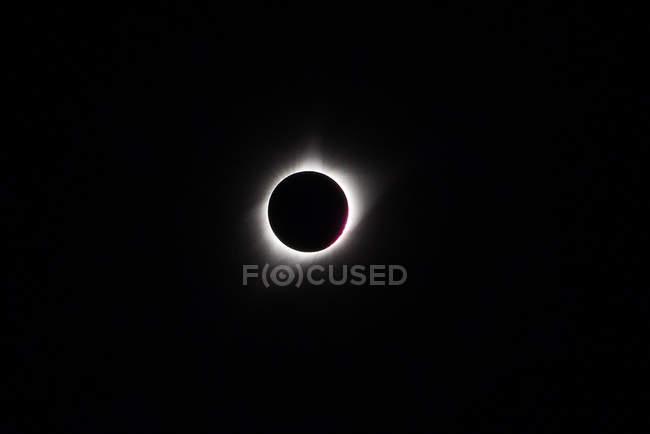 Eclipse solaire totale, concept de phénomène naturel — Photo de stock