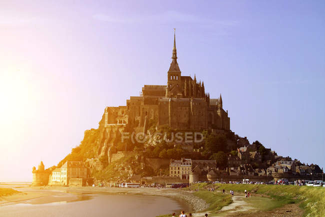 Scenic View of Mont Saint-Michel and beach, Normandy, France — Stock Photo