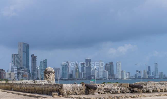 The skyline of Boca Grande in Cartagena, Bolivar, Colombia, South America — Stock Photo