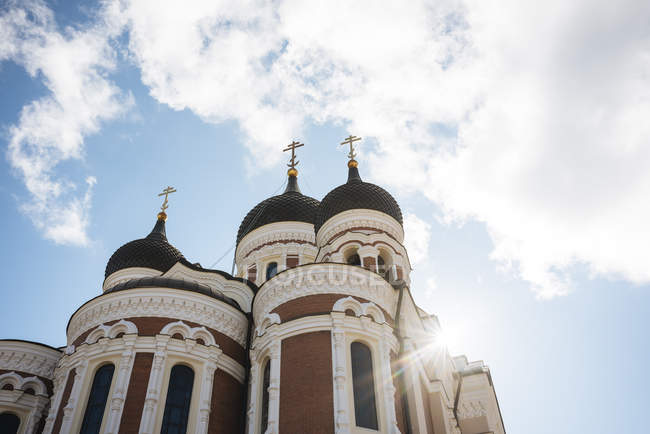 Low angle view of Alexander Nevsky Cathedral, Tallinn, Estonia — Stock Photo