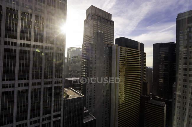 Paisagem urbana, visão elevada, New York City, Nova Iorque, EUA — Fotografia de Stock