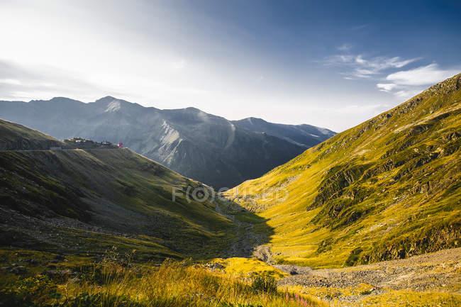 Mountain valley landscape, Draja, Vaslui, Romania — Stock Photo