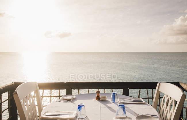 Sheer Rocks Restaurant outside of Jolly Harbour, Buckleys, Saint John, Antigua — Stock Photo