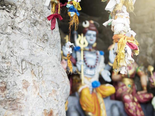 Bänder an Zweigen gebunden, koneswaram kovil Tempel, trincomalee, sri lanka — Stockfoto