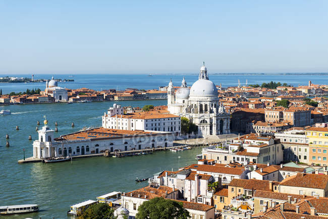 Vista aérea de Veneza cityscape, Veneto, Itália, Europa — Fotografia de Stock