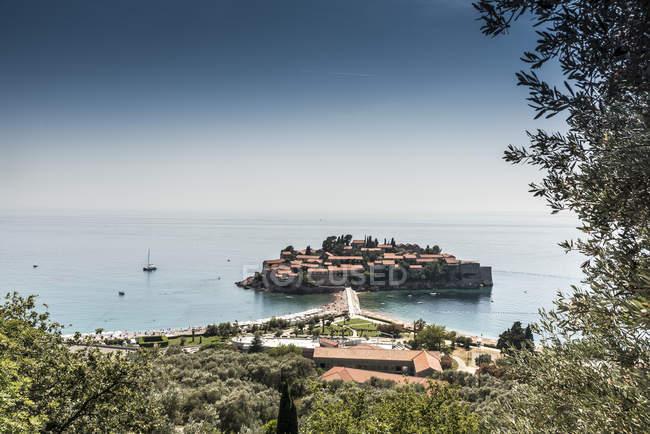 Europe Abzi-Kula, le Monténégro, l'île de Sveti Stefan — Photo de stock