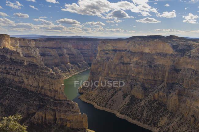 Horseshoe Bend, área de Recreação Nacional Bighorn Canyon, Wyoming, EUA — Fotografia de Stock