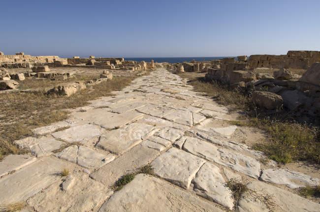 Sabratha Roman site, Tripolitania, Libya — Stock Photo
