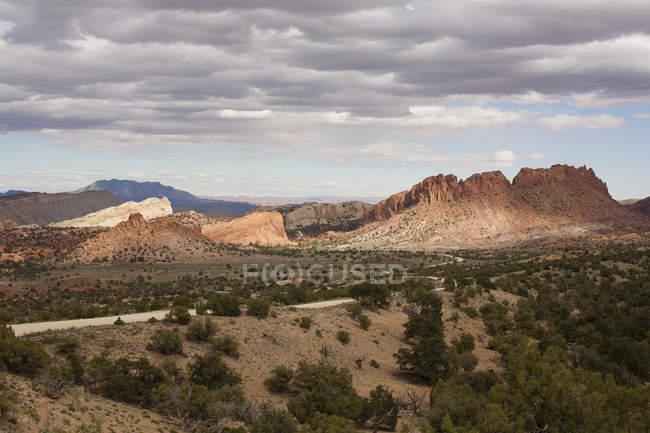Burr Trail Road in Grand-Escalante National Monument, Utah, Usa — Stockfoto