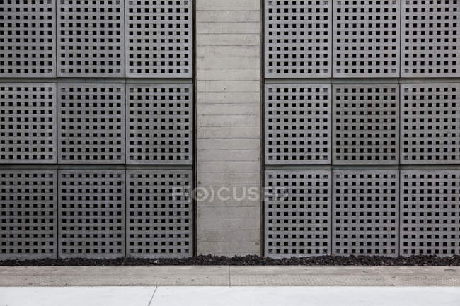 Abstract grey wall on Train station — Stock Photo