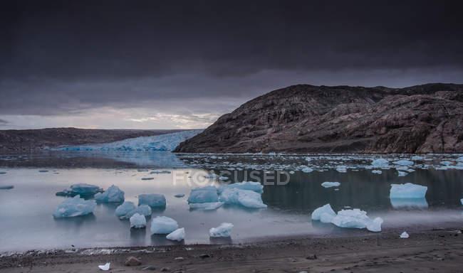 Vista panoramica, Narsaq, Kitaa, Groenlandia — Foto stock