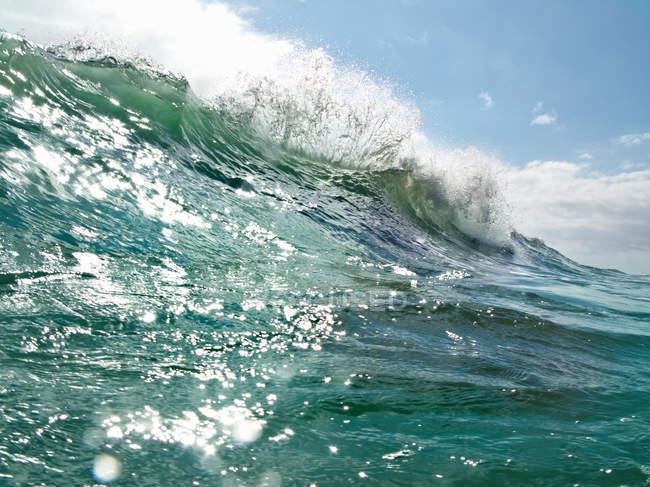 Вид на океанскую волну в дневное время, объединенные штаты Америки — стоковое фото