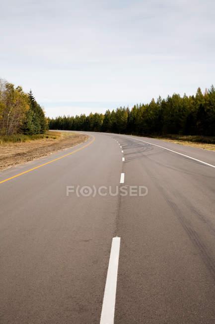 Rural highway, Ontario, Canada — Stock Photo