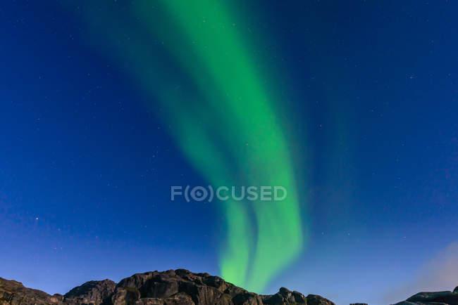 Incredibile Aurora Borealis, Narsaq, Vestgronland, Groenlandia — Foto stock