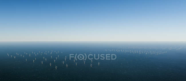 Offshore windfarm, Domburg, Zeeland, Netherlands — Stock Photo