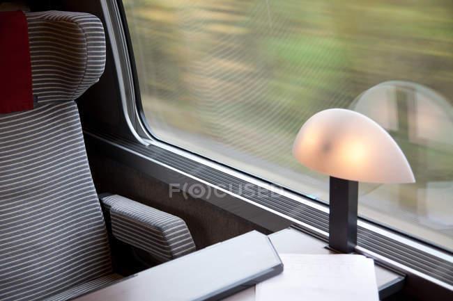 Перегляд сучасних залізничний інтер'єр, Закри — стокове фото