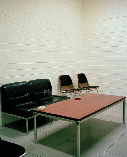 View of empty break room with white walls — Stock Photo