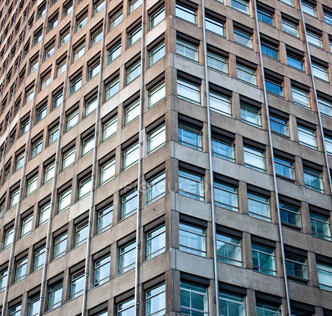 Low angle view of Tower block, London, England — Stock Photo