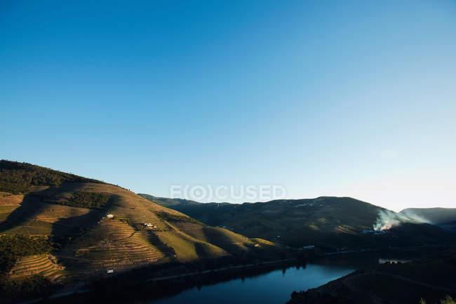 Vista elevada do Rio Douro, Portugal — Fotografia de Stock