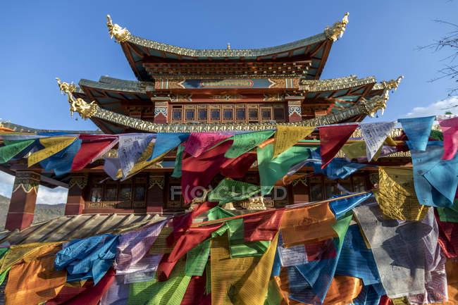 Ganden Sumtseling монастиря, Shangri-La County, Юньнань, Китай — стокове фото
