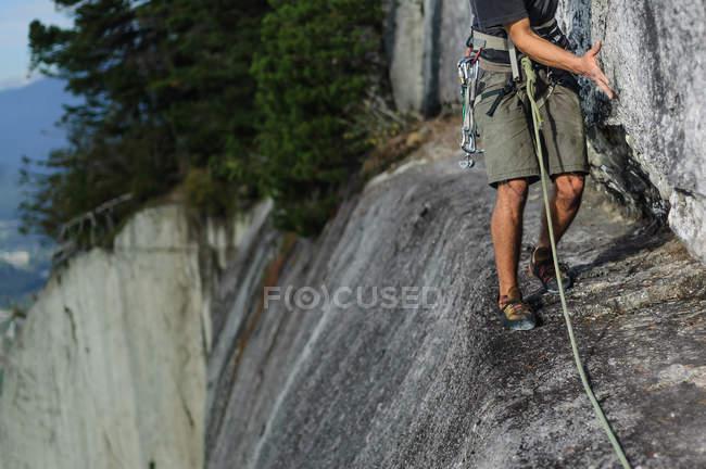 Cropped image of Man climbing at Chief, Squamish, Canada — Stock Photo