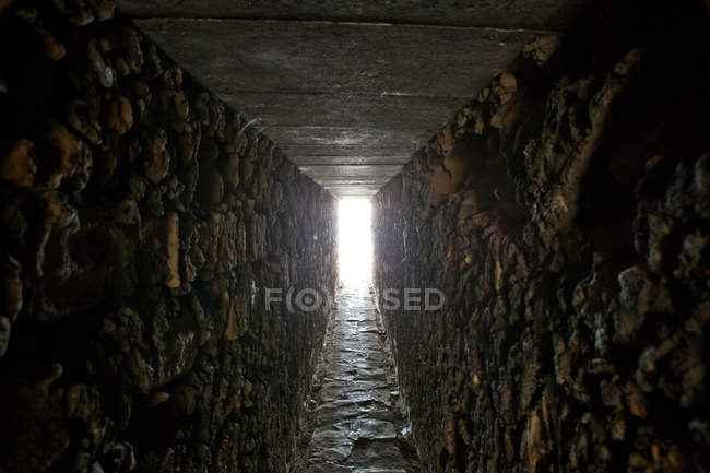 View of empty tunnel with daylight — стокове фото