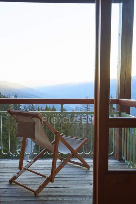 Balkon von Skihütte, Hintertux, Tirol, Österreich — Stockfoto