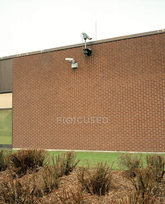 Building protected by security camera, germany — Stock Photo