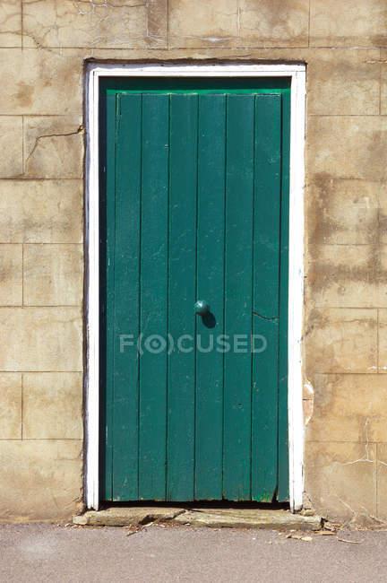 View of old green door — Stock Photo