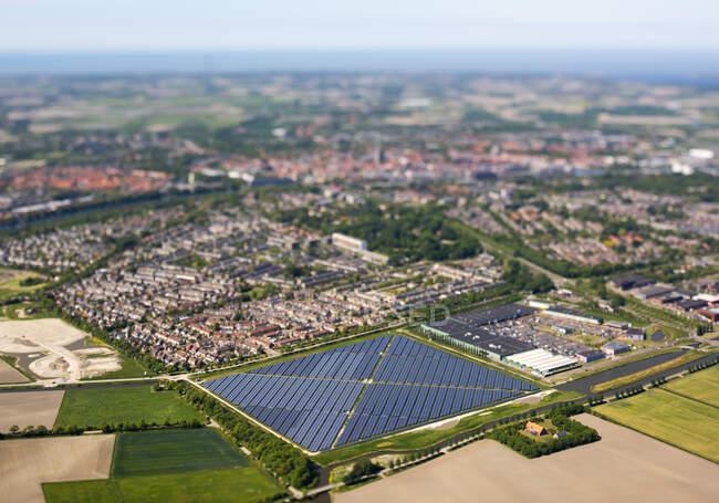 Solar farm built on the edge of the town of Middelburg — Stock Photo