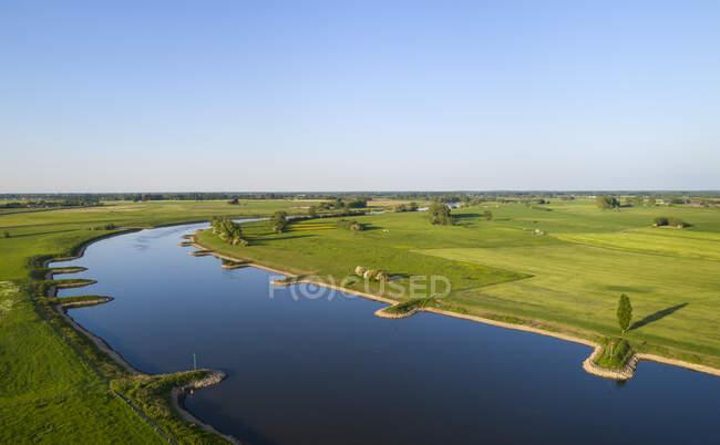 Vista ad alto angolo del fiume Ijssel — Foto stock