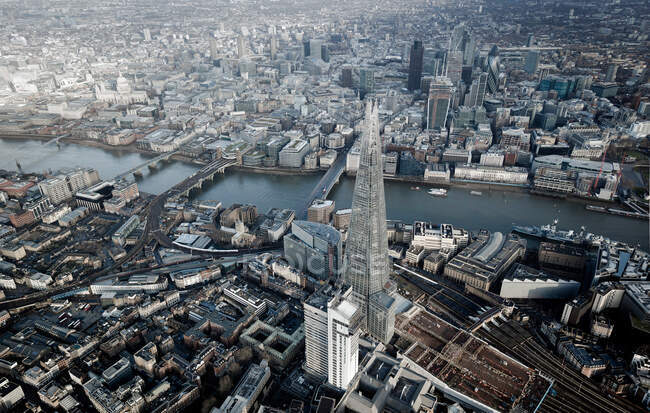 Vue aérienne du Shard à Londres — Photo de stock
