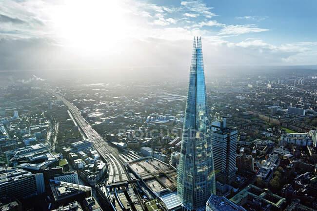 Vista aérea del fragmento en Londres - foto de stock