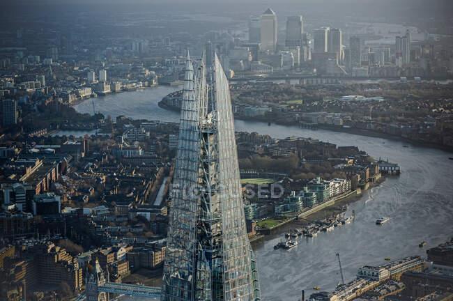 Vista aérea do fragmento em Londres — Fotografia de Stock