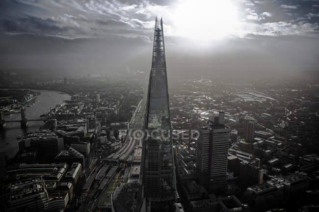 Vue aérienne du Shard à Londres — Photo de stock