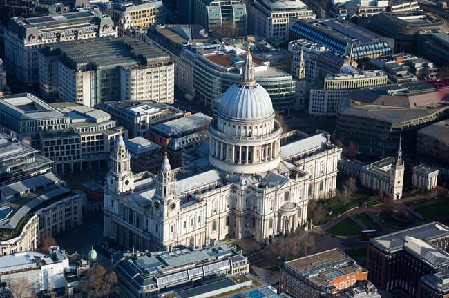 Vue aérienne du paysage urbain de Londres — Photo de stock