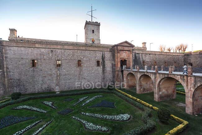 Montjuic Castle, Montjuic hill, Barcelona, Catalonia, Spain — Stock Photo