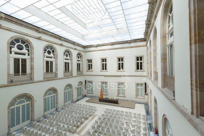 Auditorium, Palazzo del Parlamento della Catalogna, Parc de la Ciutadella, Barcellona, Catalogna, Spagna — Foto stock
