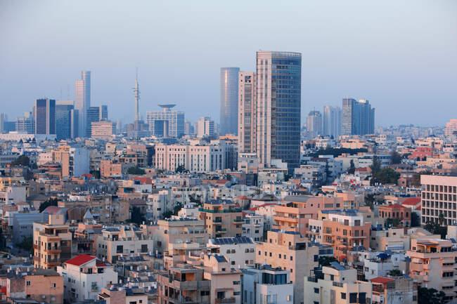 Тель - Авів у вечірньому світлі (Ізраїль). — стокове фото